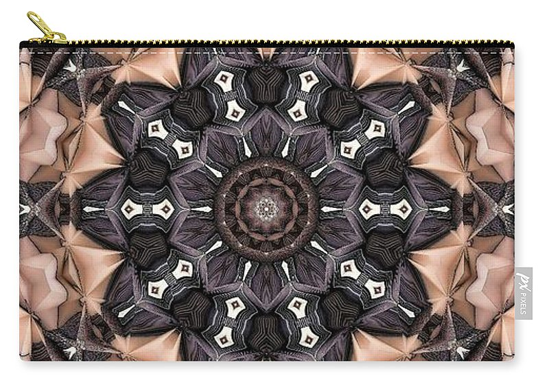 Kaleidoscope Carry-all Pouch featuring the digital art Kaleidoscope 48 by Ron Bissett