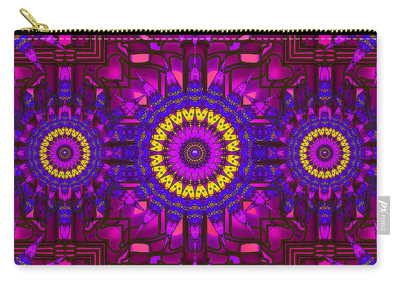Purple Carry-all Pouch featuring the digital art Different Church by Robert Orinski