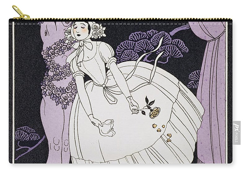 Ballet Russe Carry-all Pouch featuring the painting Karsavina by Georges Barbier