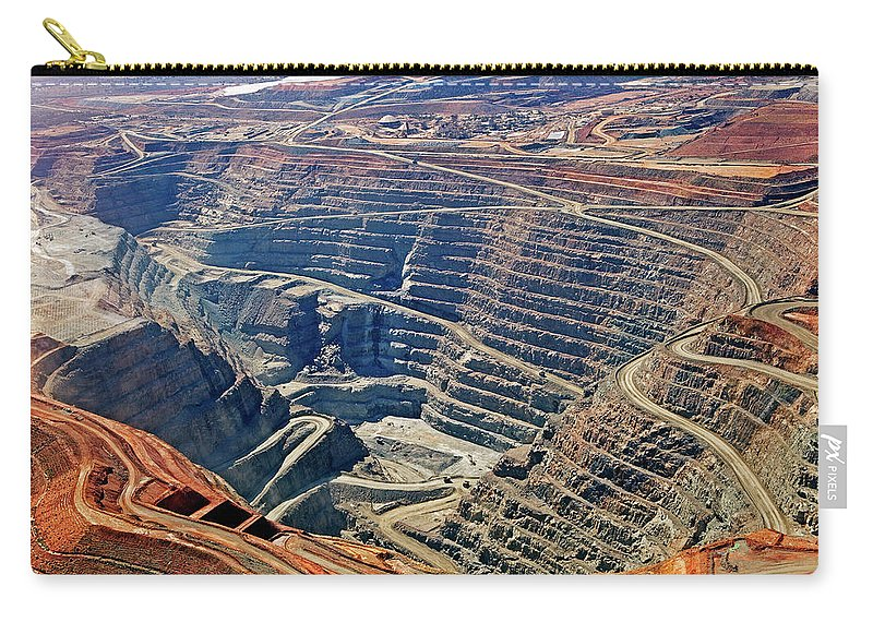 Mineral Carry-all Pouch featuring the photograph Kcgm. Gold Mine,western Australia by John W Banagan