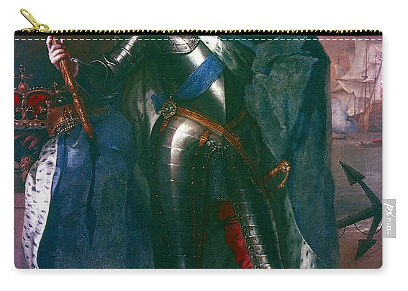 1684 Carry-all Pouch featuring the painting King James II Of England (1633-1701) by Granger