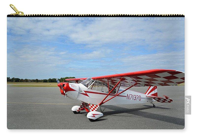 Piper J-3 Cub Carry-all Pouch featuring the photograph Krier Cub by Matt Abrams