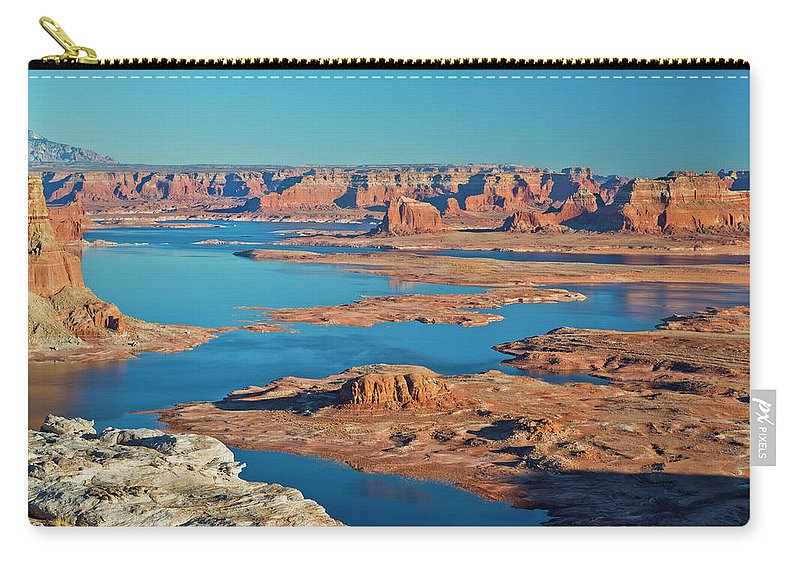 Tranquility Carry-all Pouch featuring the photograph Lake Powell by Chen Su