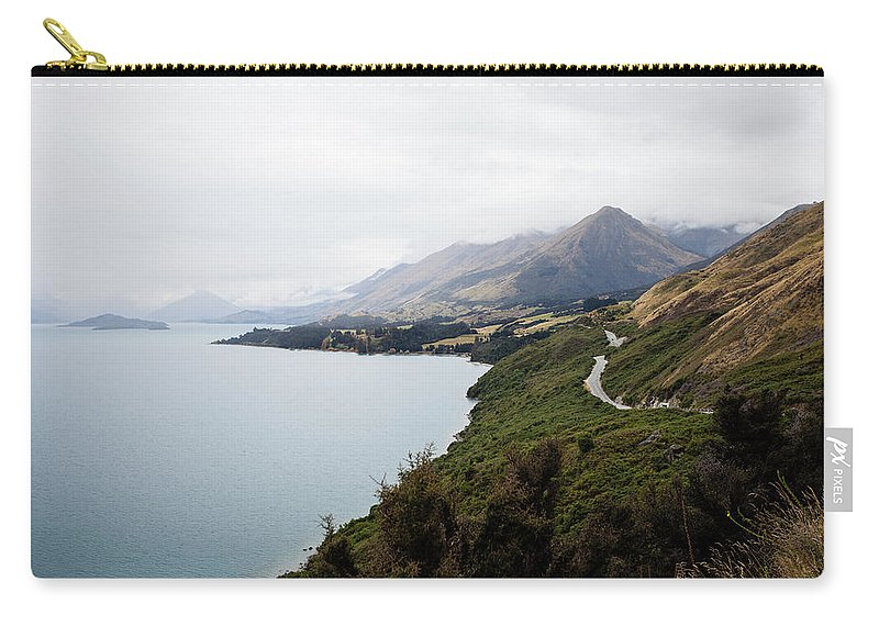 Tranquility Carry-all Pouch featuring the photograph Lake Wakatipu by Claire Takacs