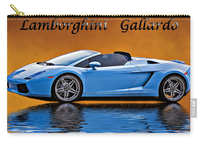 Car Carry-all Pouch featuring the photograph Lamborghini Gallardo by Steve Harrington