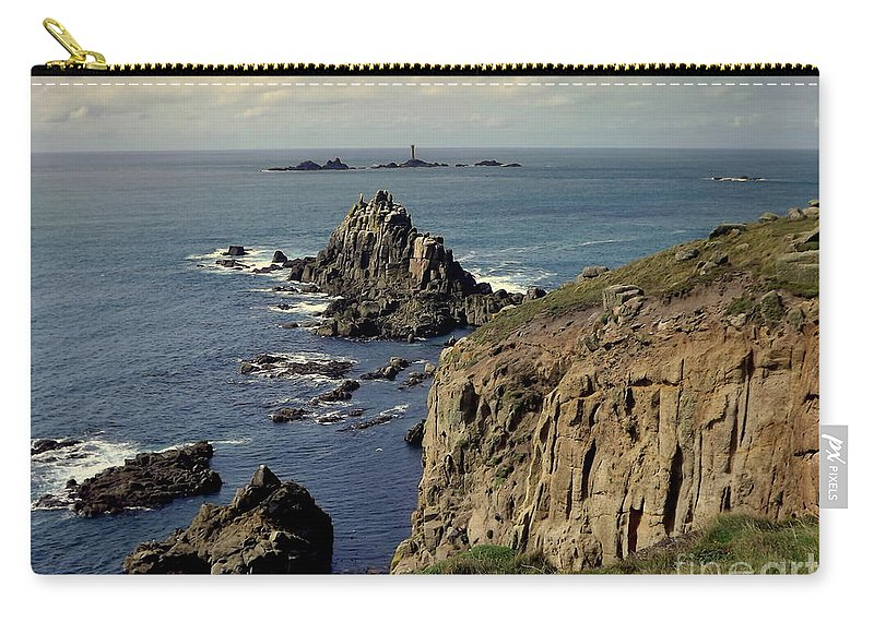 Atlantic Carry-all Pouch featuring the photograph Seascape Lands End by Linsey Williams