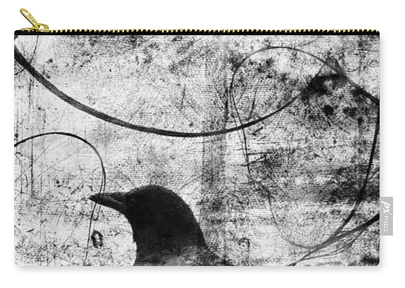 Crow Carry-all Pouch featuring the photograph Last Call by The Artist Project