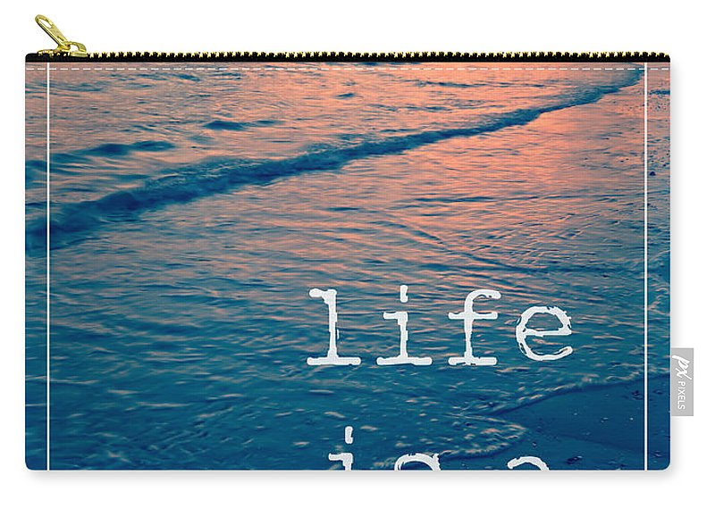Sunset Carry-all Pouch featuring the photograph Life Is A Beach by Edward Fielding