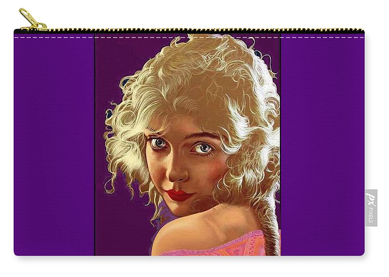 Carry-all Pouch featuring the painting Lillian Gish by George Torjussen