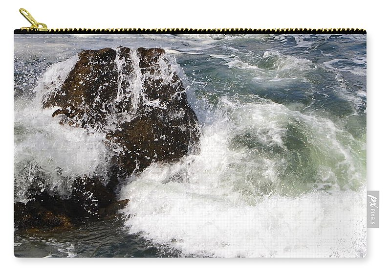 California Carry-all Pouch featuring the photograph Linda Mar Beach Surf by Dean Ferreira