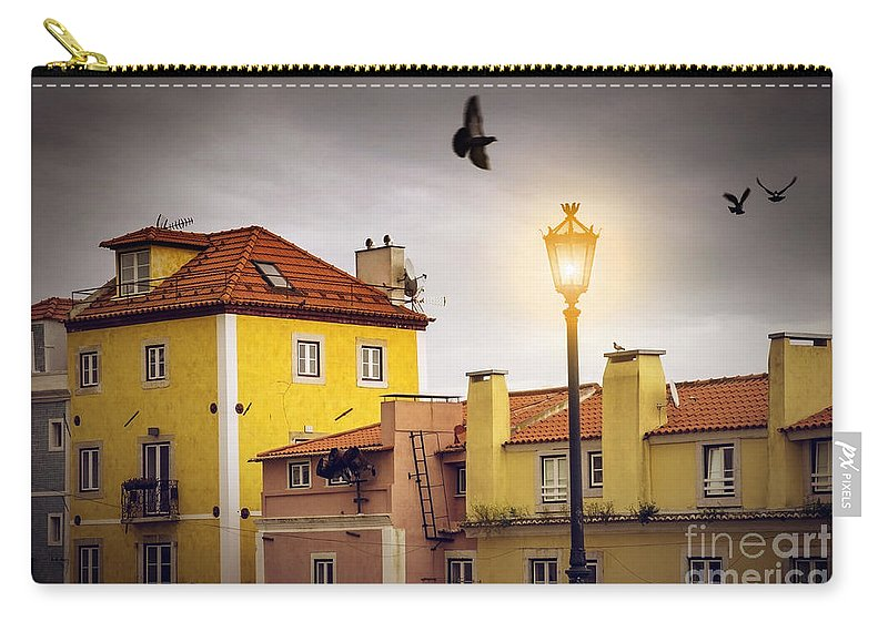 Alfama Carry-all Pouch featuring the photograph Lisbon Houses by Carlos Caetano
