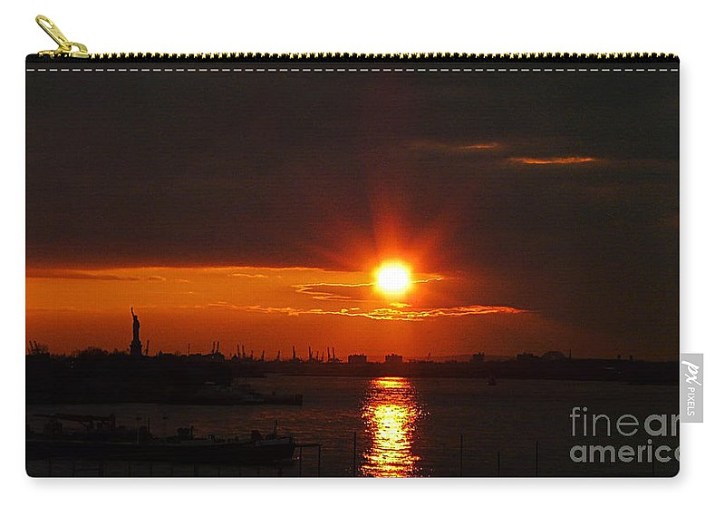 Sunset Carry-all Pouch featuring the photograph Living Without You by Kendall Eutemey