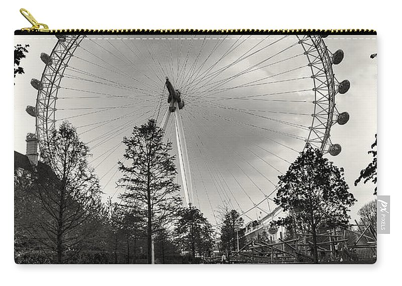 London Carry-all Pouch featuring the photograph London Eye by Alfio Finocchiaro