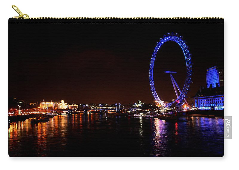 Eye Carry-all Pouch featuring the photograph River Thames - London by Doc Braham