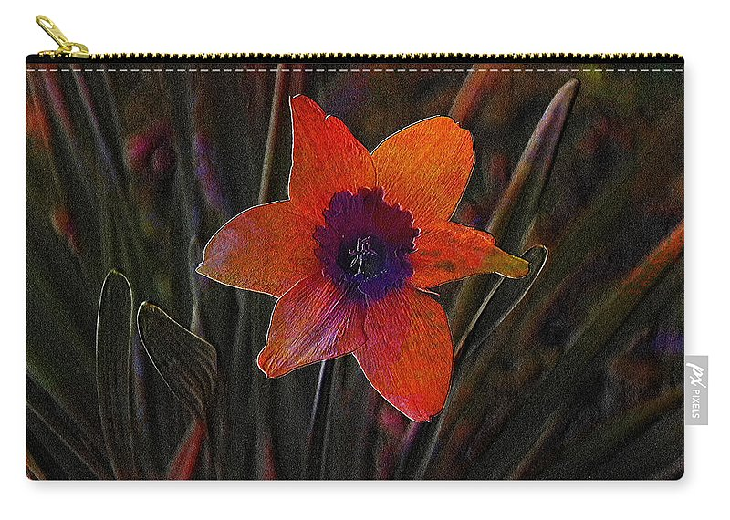 Flower Carry-all Pouch featuring the photograph Lonely by Ericamaxine Price
