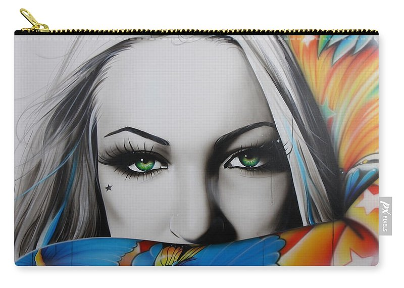 Lady Carry-all Pouch featuring the painting Love Rainbow by Christian Chapman Art