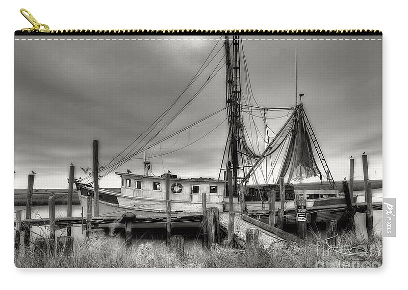 Shrimp Boat Carry-all Pouch featuring the photograph Lowcountry Shrimp Boat by Scott Hansen