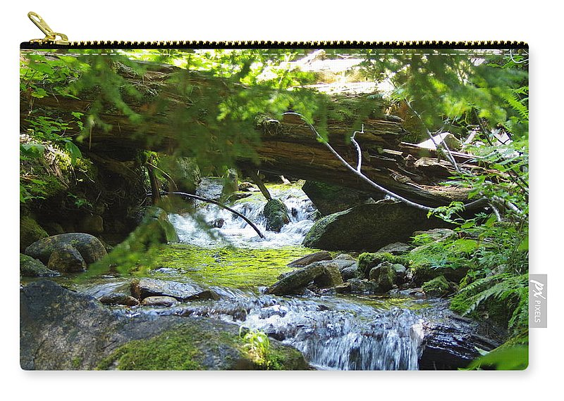 Water Falls Carry-all Pouch featuring the photograph Lower Granite Falls 1 by Mike Wheeler