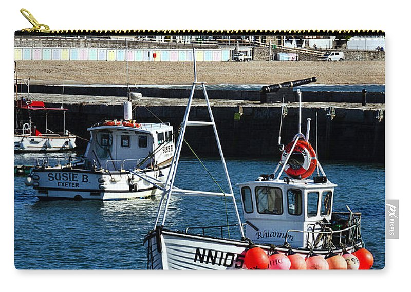Lyme Regis Carry-all Pouch featuring the photograph Lyme Regis Harbour by Susie Peek
