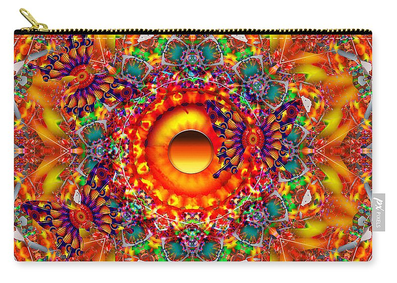 Butterflies Carry-all Pouch featuring the digital art Magically Delicious by Robert Orinski