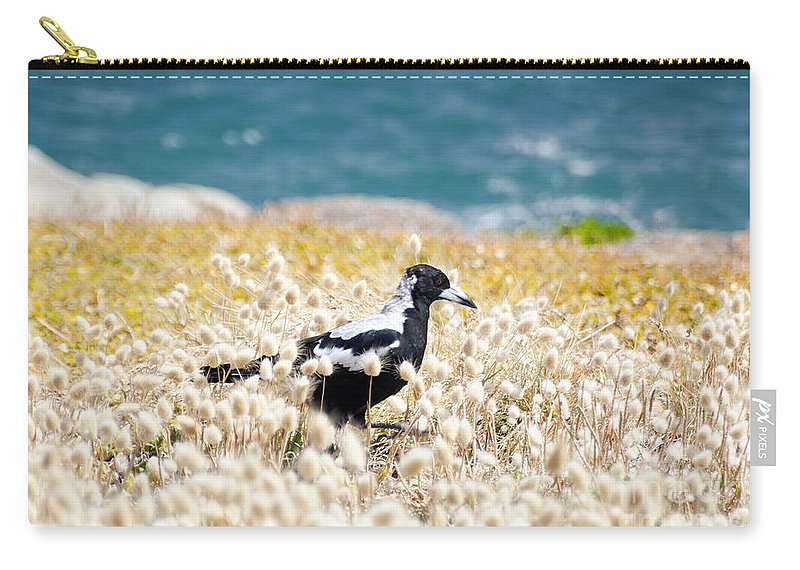 South Australia Carry-all Pouch featuring the photograph Magpie by Tim Hester