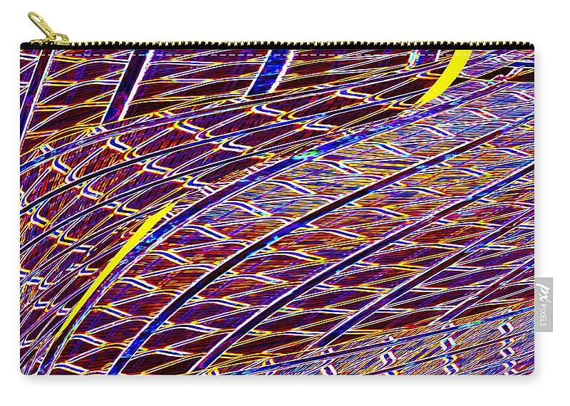 Abstract Carry-all Pouch featuring the digital art Making Tracks by Wendy Wilton
