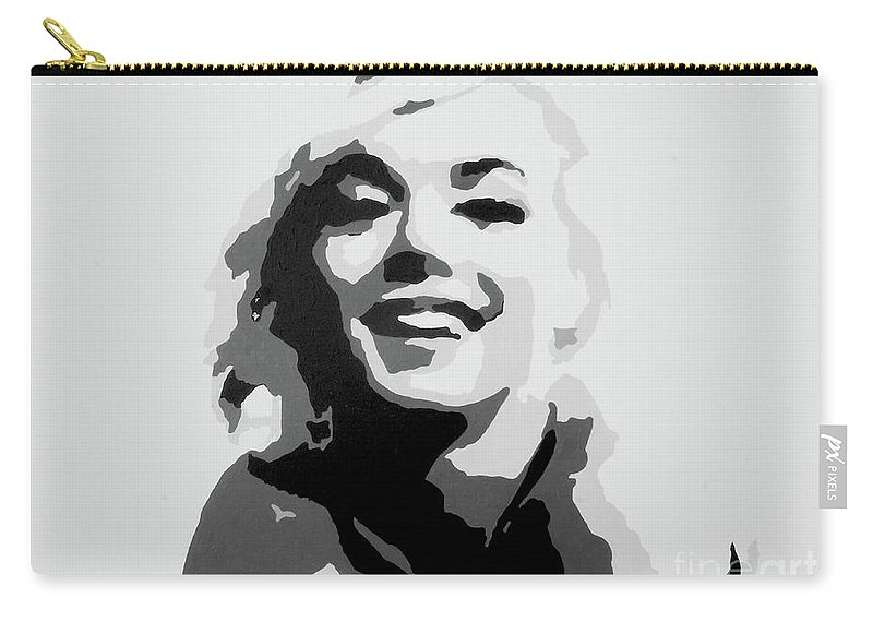 Marilyn Monroe Carry-all Pouch featuring the painting Marilyn Monroe by Katharina Filus