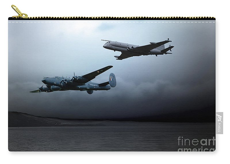 Raf Shackleton Carry-all Pouch featuring the digital art Maritime Reconnaissance by J Biggadike