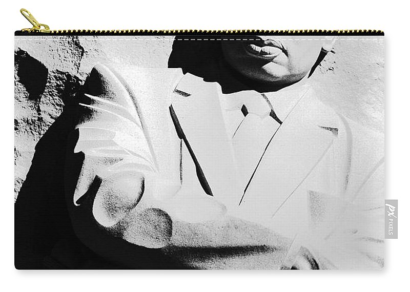 Martin Carry-all Pouch featuring the photograph Martin Luther King Memorial by Cora Wandel