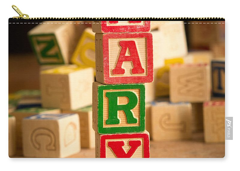 Abs Carry-all Pouch featuring the photograph Mary - Alphabet Blocks by Edward Fielding