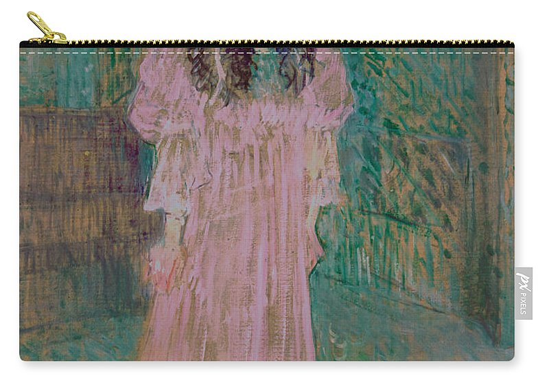 Toulouse-lautrec Carry-all Pouch featuring the painting May Belfort by Henri de Toulouse-lautrec