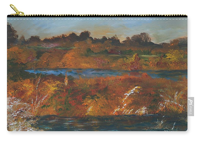 Gail Daley Carry-all Pouch featuring the painting Mendota Slough by Gail Daley