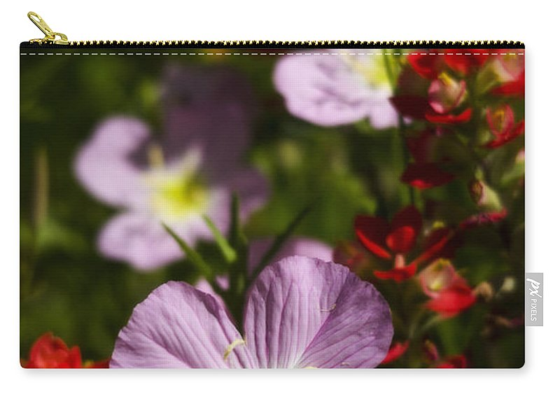Mexican Primrose Carry-all Pouch featuring the photograph Mexican Primrose by Saija Lehtonen