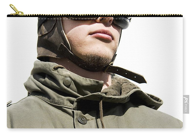 Airforce Carry-all Pouch featuring the photograph Military Man by Jorgo Photography - Wall Art Gallery