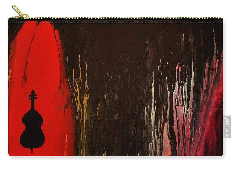Jazz Carry-all Pouch featuring the painting Mingus by Michael Cross