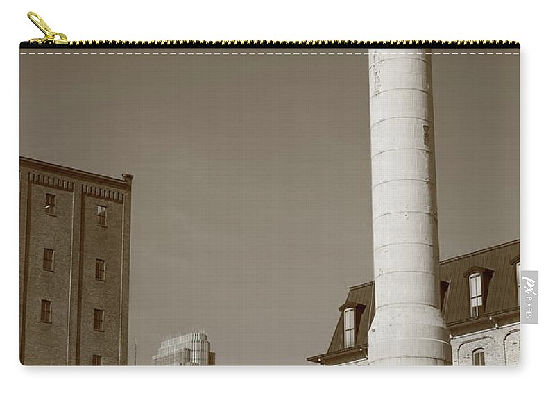 America Carry-all Pouch featuring the photograph Minneapolis Smokestack by Frank Romeo