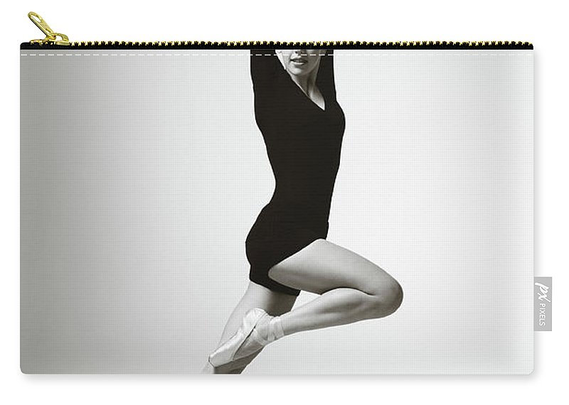 Ballet Dancer Carry-all Pouch featuring the photograph Modern Dancer by Lambada