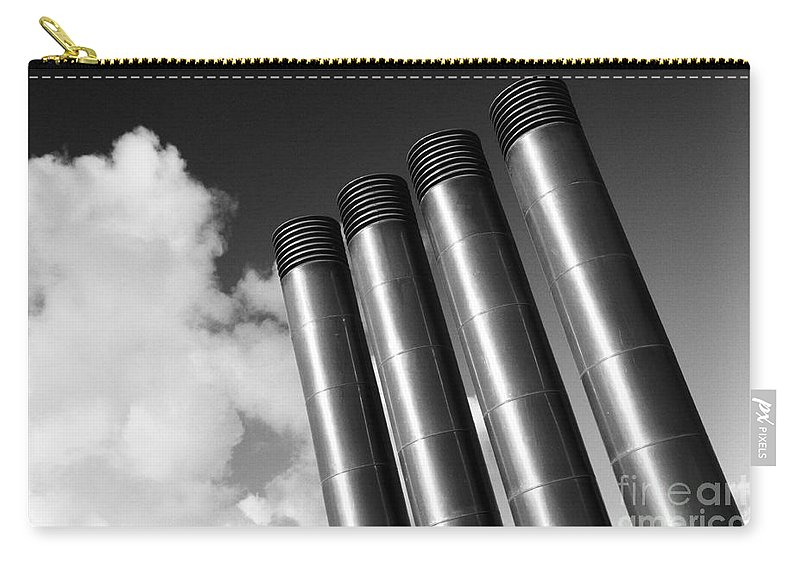 Chimney Carry-all Pouch featuring the photograph Modern Restaurant Chimneys. by Gaspar Avila