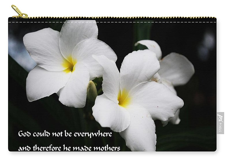 Mom Carry-all Pouch featuring the photograph Mom by Gary Wonning