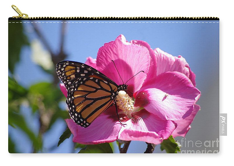 Monarch Carry-all Pouch featuring the photograph Monarch by Tannis Baldwin