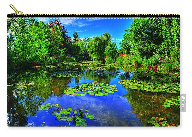 Monet Carry-all Pouch featuring the photograph Monet's Lily Pond by Midori Chan