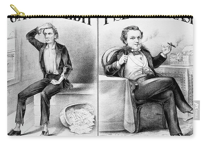 1870 Carry-all Pouch featuring the painting Money Lending, 1870 by Granger