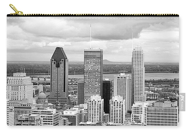 Downtown Carry-all Pouch featuring the photograph Montreal View by Valentino Visentini