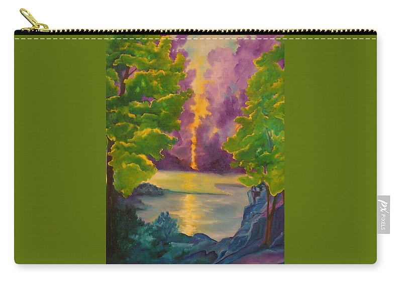 Trees Carry-all Pouch featuring the painting Morning by Lord Frederick Lyle Morris - Disabled Veteran