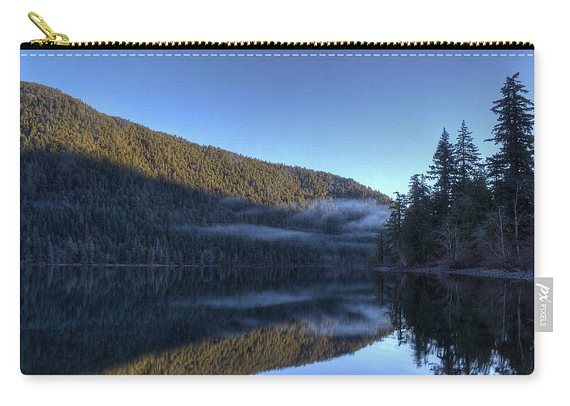 Lake Carry-all Pouch featuring the photograph Morning Mist by Randy Hall