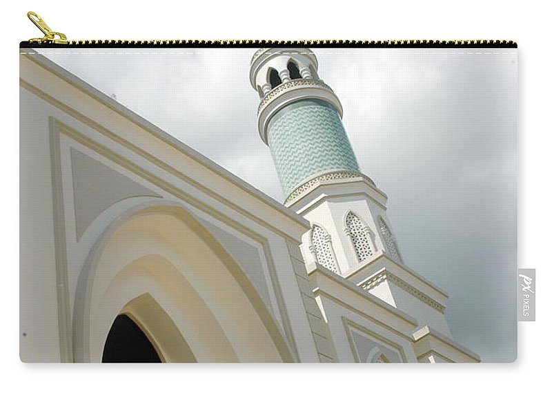 New Carry-all Pouch featuring the photograph mosque in Tarakan Indonesia by Antoni Halim