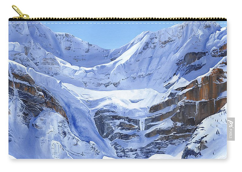 Mountains Carry-all Pouch featuring the painting Mt Patterson by Glen Frear