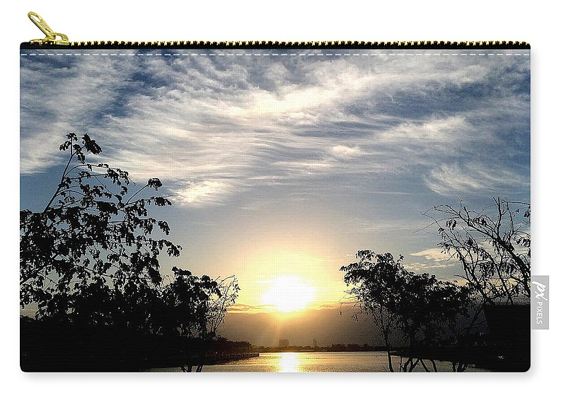 Angel Carry-all Pouch featuring the photograph Museum Park by Raymel Garcia