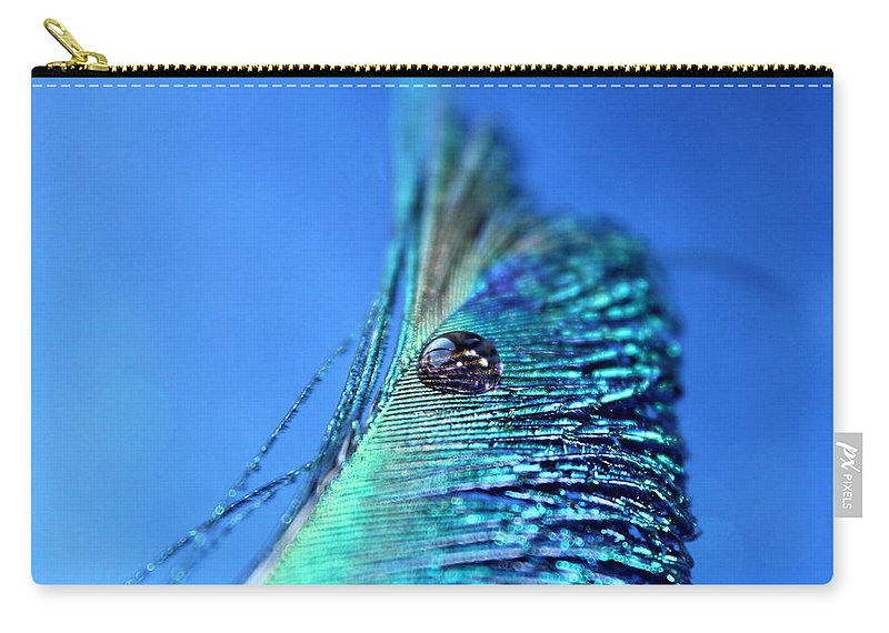 Peacock Feather Carry-all Pouch featuring the photograph Mysterious Ways by Krissy Katsimbras