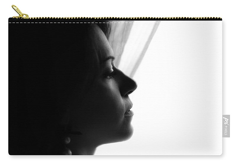 Portrait Photographs Carry-all Pouch featuring the photograph Nancy by Andrea Mazzocchetti